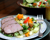 Tropical Pork Tenderloin with Tropical Salad