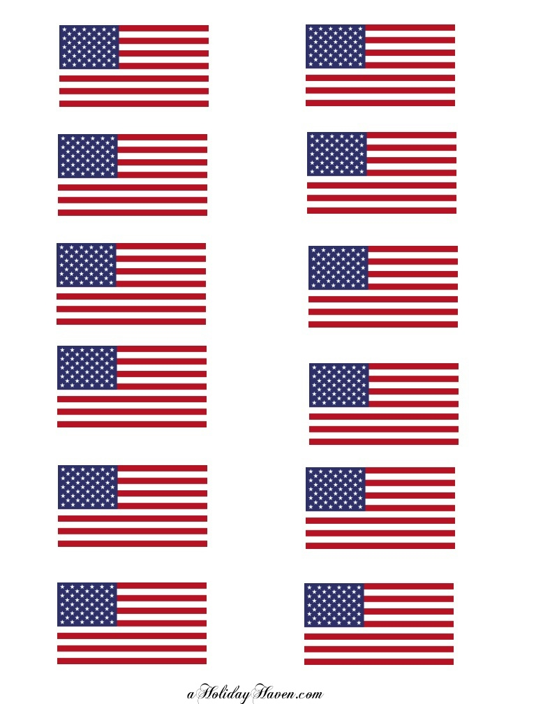 Influential image throughout free printable american flag