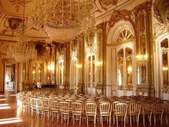 queluz national palace in lisbon portugal interior exterior photos