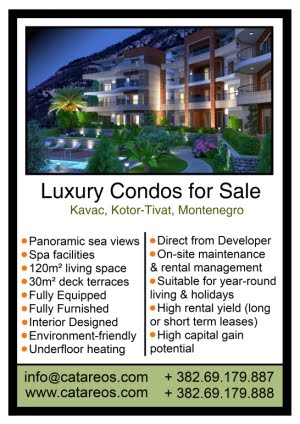 Luxury Condos For Sale in Tivat, Montenegro