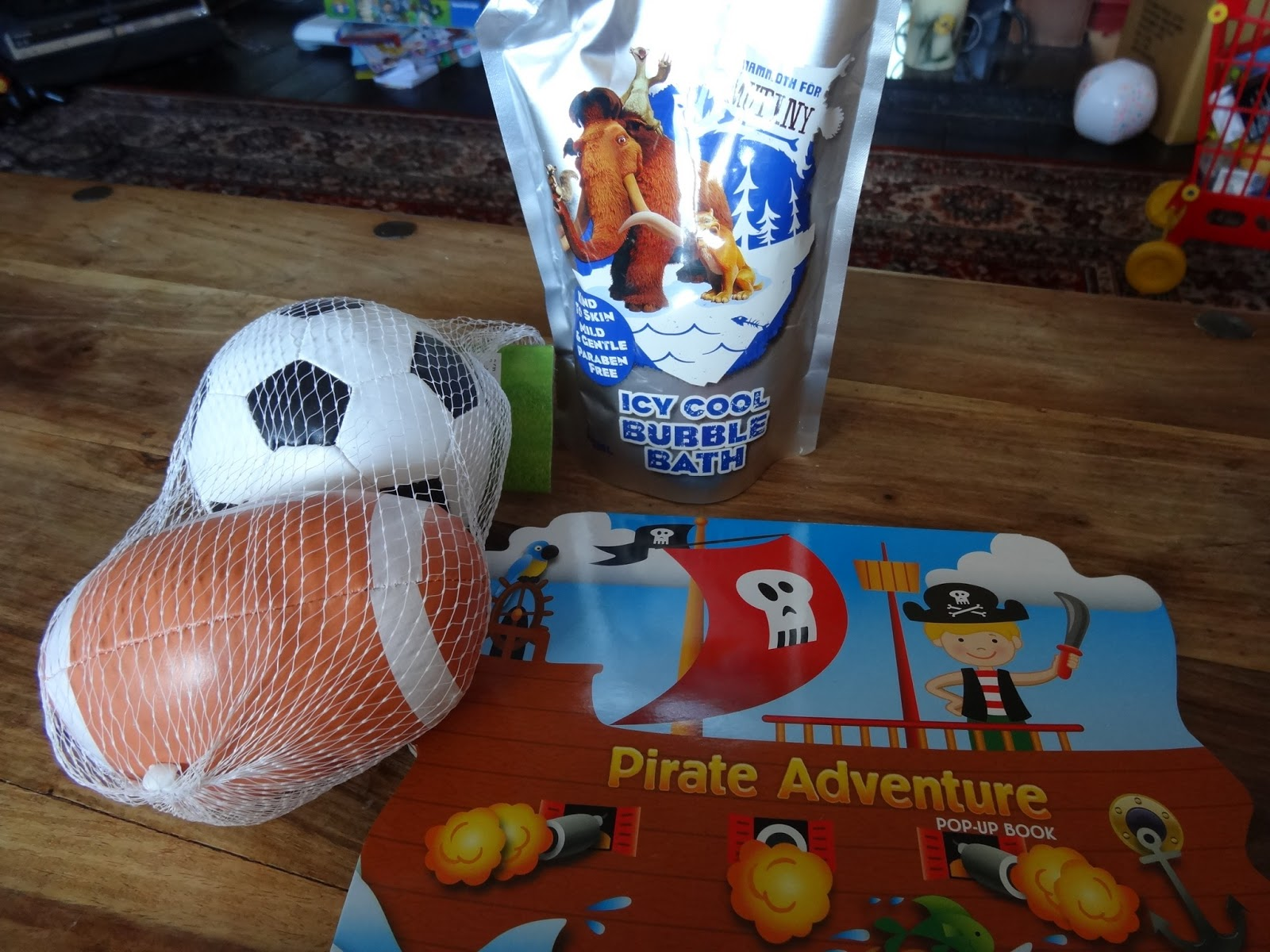 White apron poundland - For The Boy We Got A Pirate Adventure Book A Duo Of A Football And A Rugby Ball He S A Bit Obsessed With Football Out Of The Blue At The Moment And