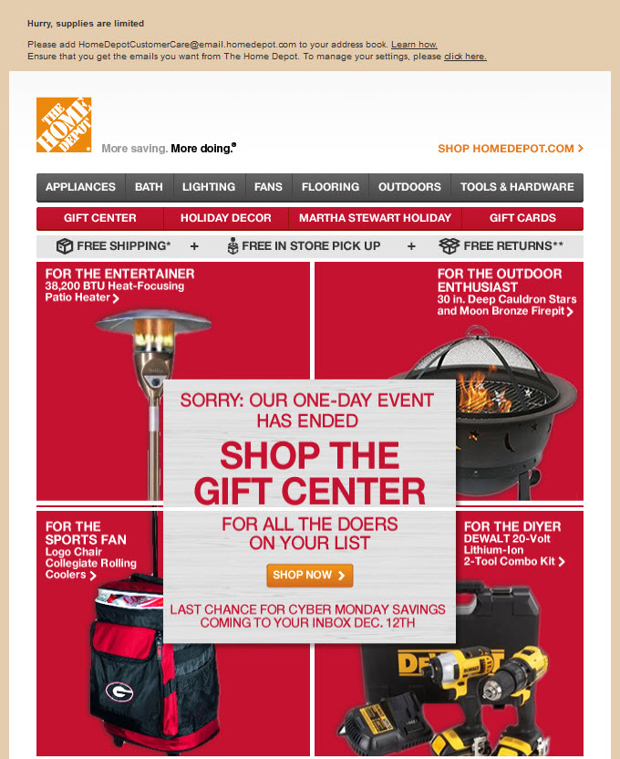 Home depot gift registry sign up image search results for Home depot wedding gift registry