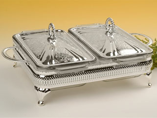 Kitch N Chic Queen Anne Silver Plated Casseroles Tableware