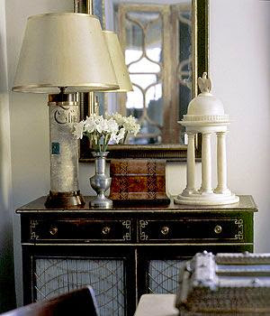black and white room classic traditional vignette