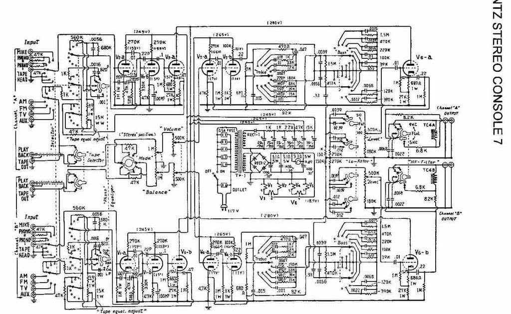 Welcome Schematic Electronic Diagram: Marantz Stereo Console 7Schematic Electronic Diagram - blogger
