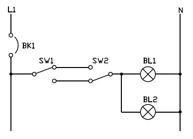 Conexion de interruptor de tres vías