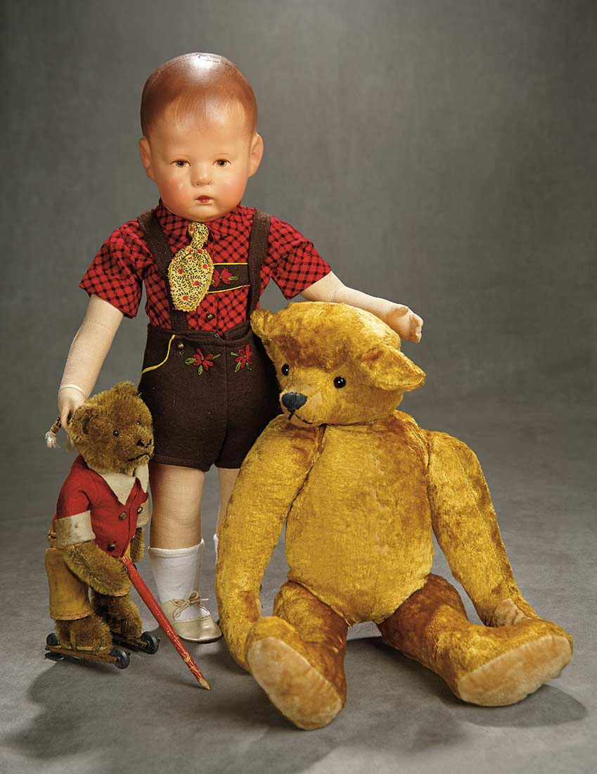 Kathe Kruse Doll with Bears