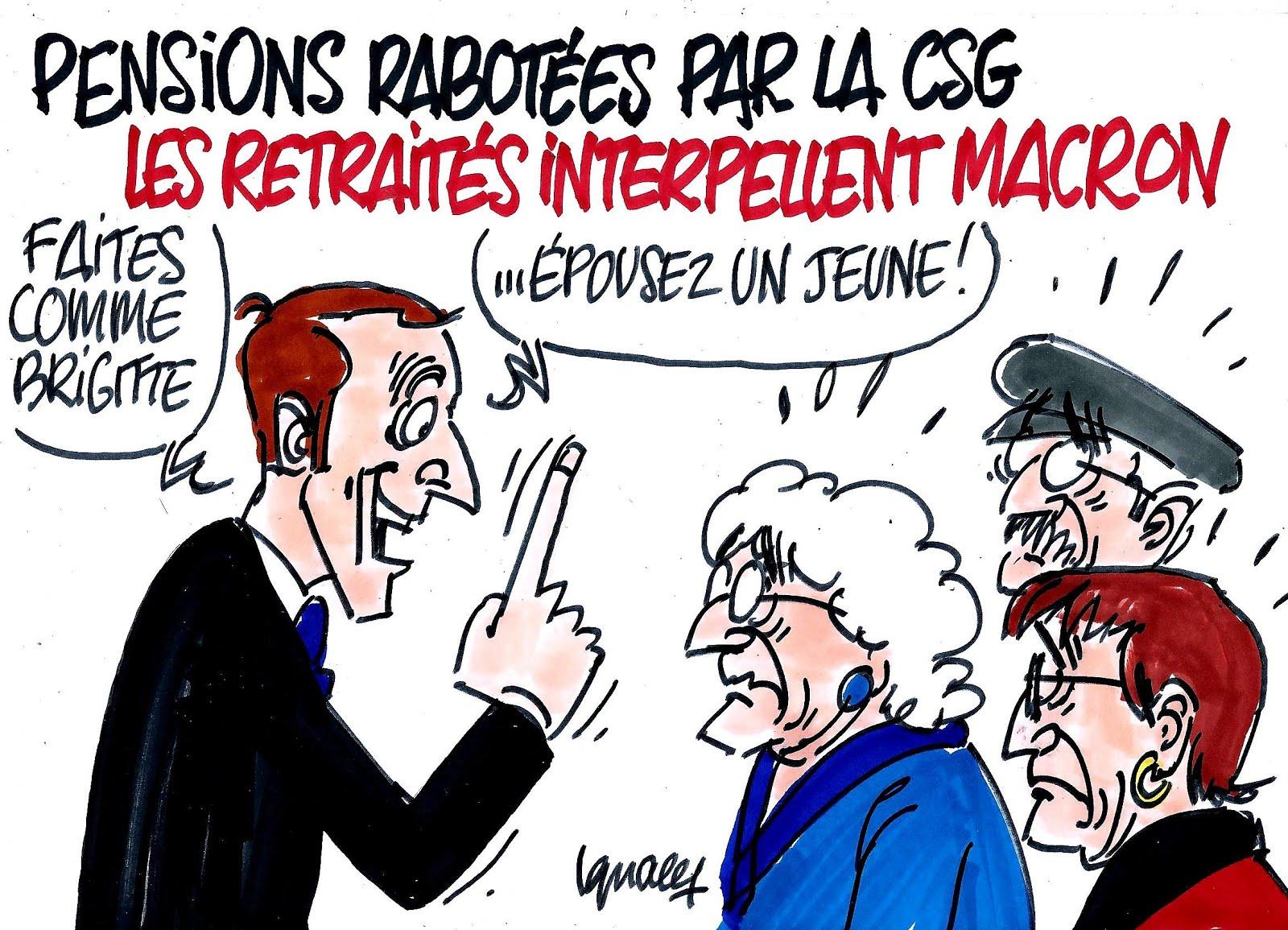 Macron contre les retraités