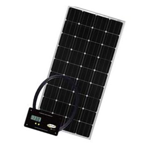 RV solar panel kit with controller