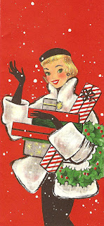 vintage christmas shopper