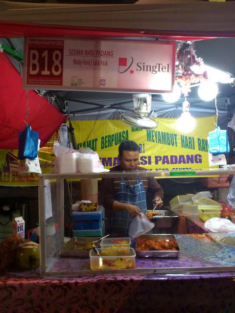 Nasi Padang bazaar Singapura Singapore