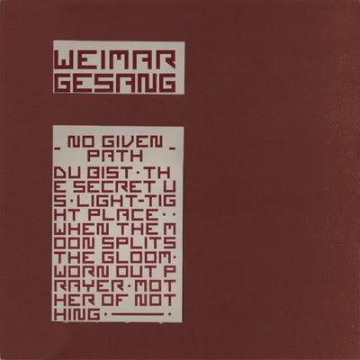 Weimar Gesang No Given Path
