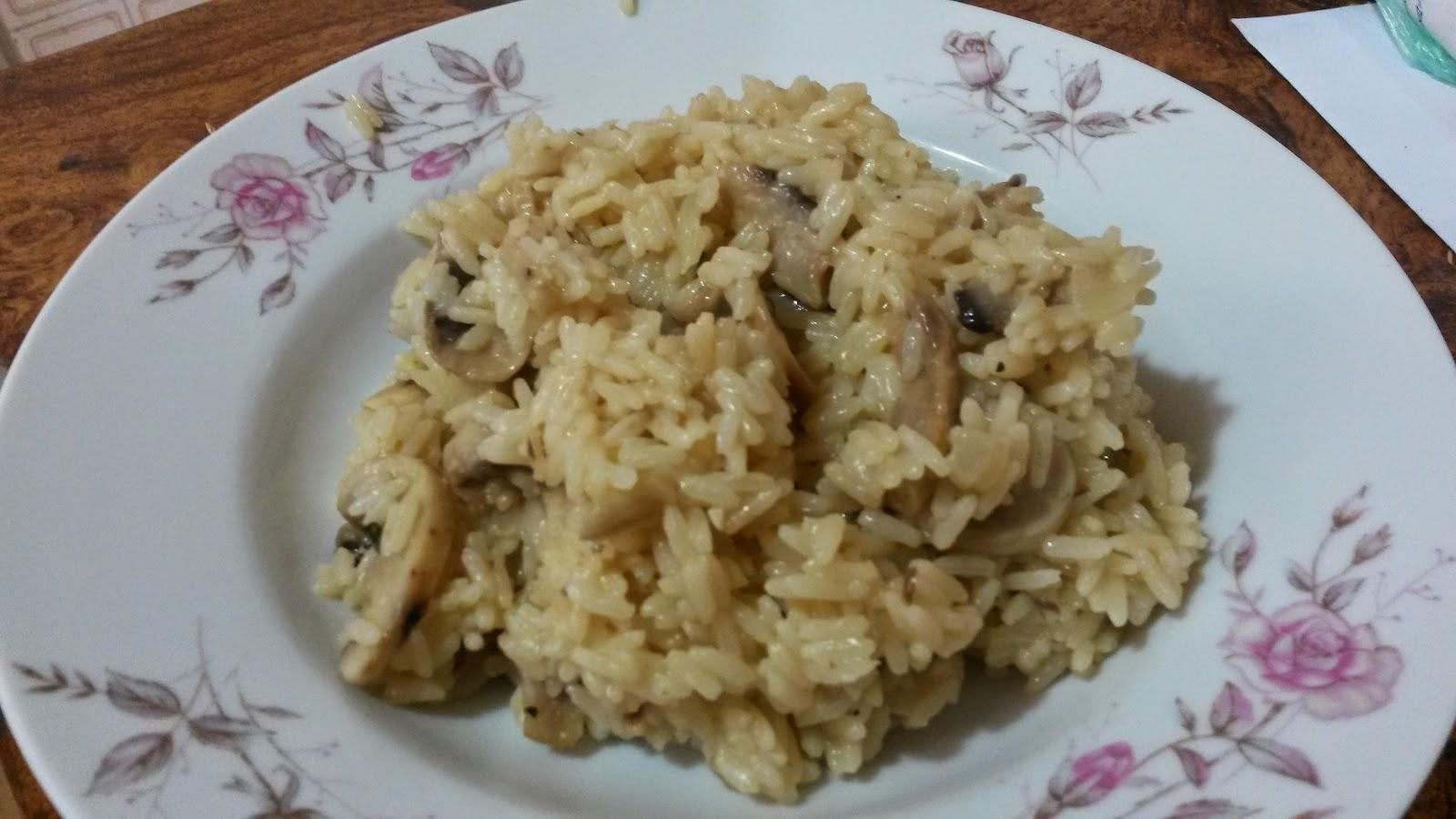 Risotto con salm n y champi ones como cocinar y for Como cocinar risotto
