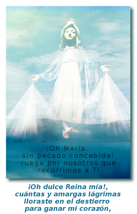 foto de la madre de cristo con oracion