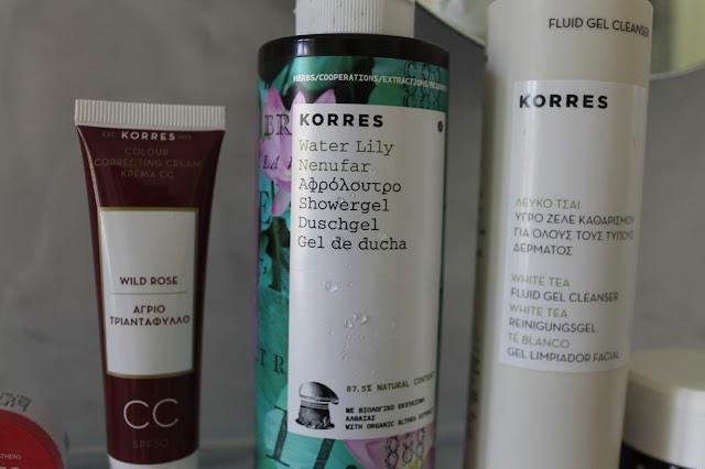 Korres Greek Beauty Brand Review Lip Butters CC Cream Shower Gel Cleanser Face Cream
