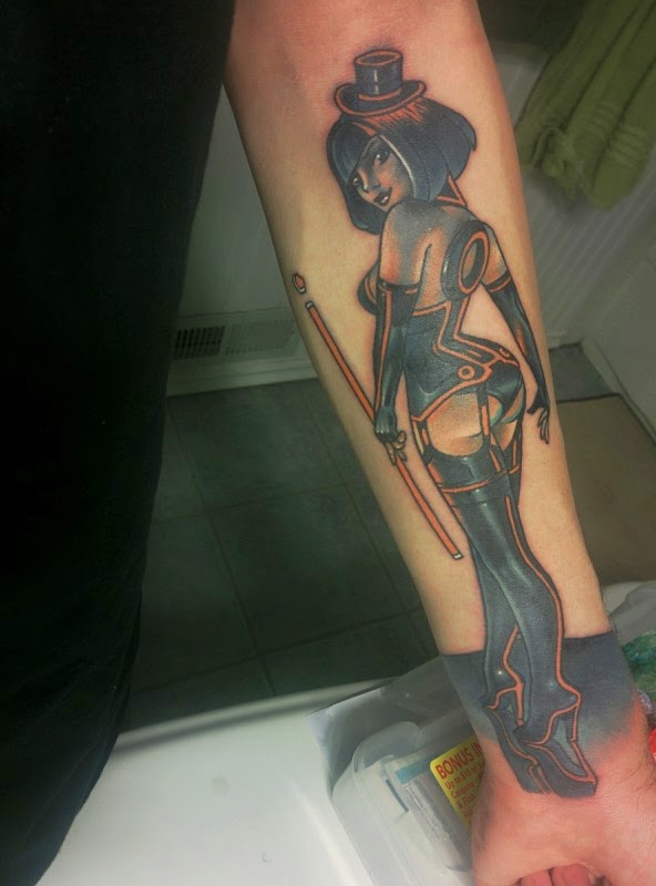 My first tattoo, Tron Girl!