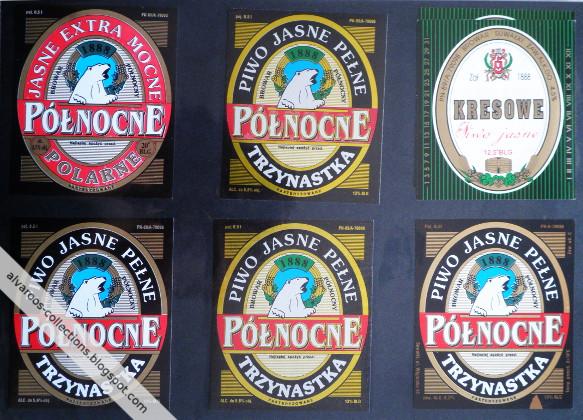 Beer labels collection: Północne: Polarne, Trzynastka, Kresowe