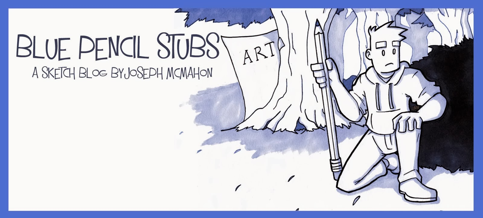 Blue Pencil Stubs