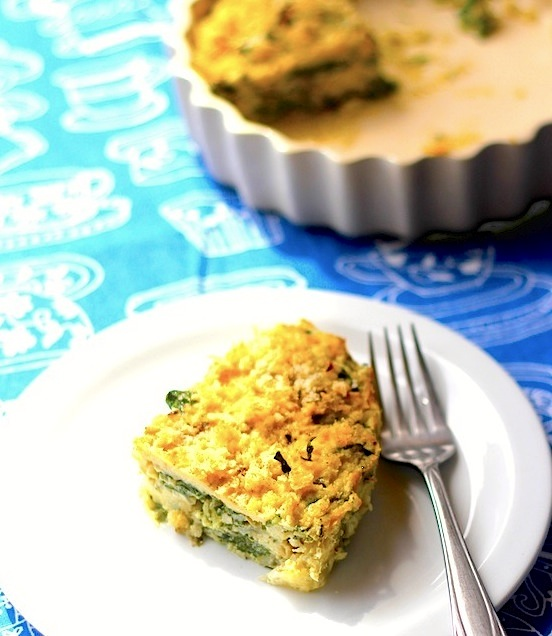 Crustless Quiche using homegrown Swiss Chard