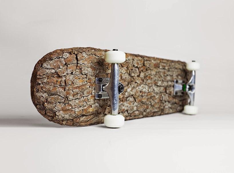 Patinetas o Skates con Cortezas de Arbol