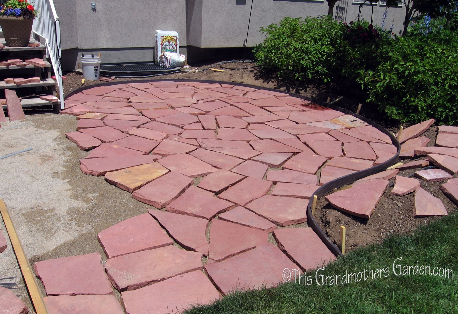 Flagstone Patio With Stone : This grandmother s garden a giant puzzle part two of our