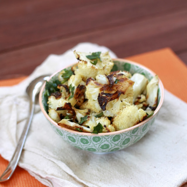 cauliflower with lemon-parsley dressing