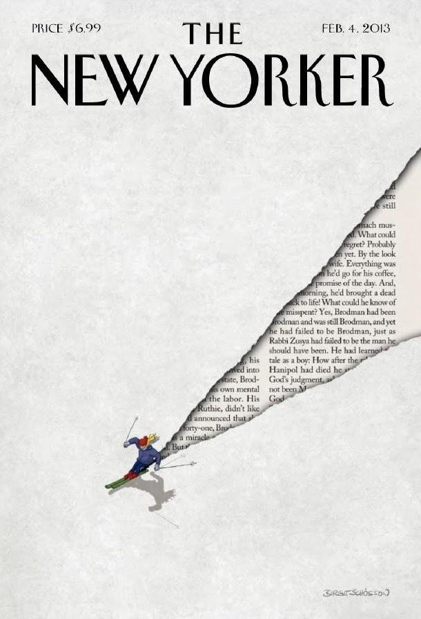 illustration of downhill ski  by Birgit Schössow  for the Newyorker