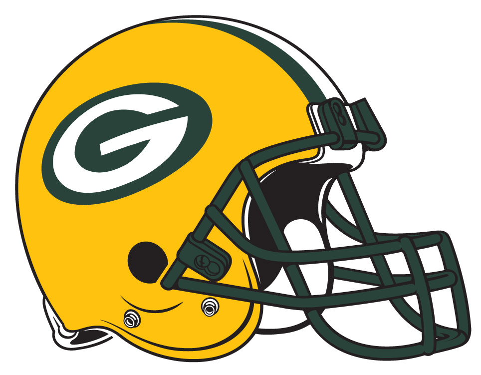 Green Bay Packers logo and helmet