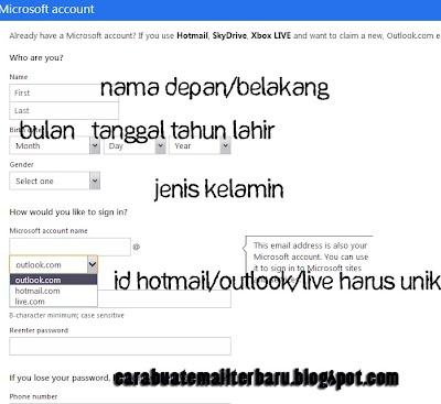 Cara Mudah Dan Cepat Membuat Email Di Hotmail