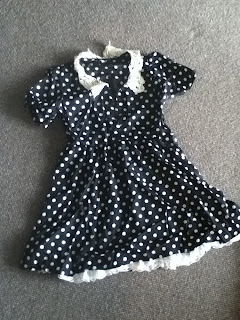 wholesale-dress.net haul navy and white polka dot dress