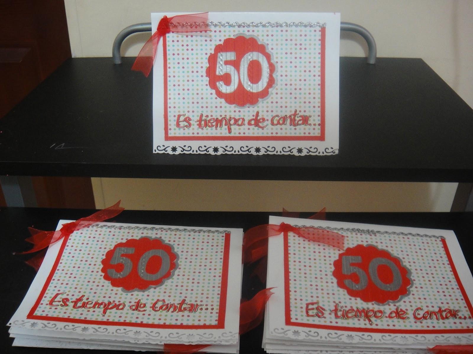 Zatart invitaciones para celebrar los 50 a os de la - Ideas 50 cumpleanos ...