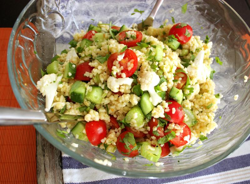 Frisk Bulgursalat Med Sprø Grønnsaker Veganmisjonen