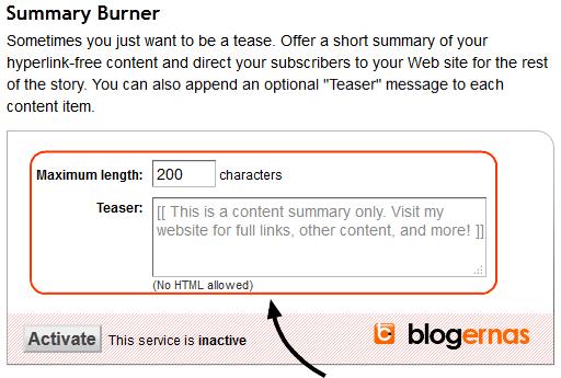 Cara Setting Feedburner hanya Judul Blog yang Tampil
