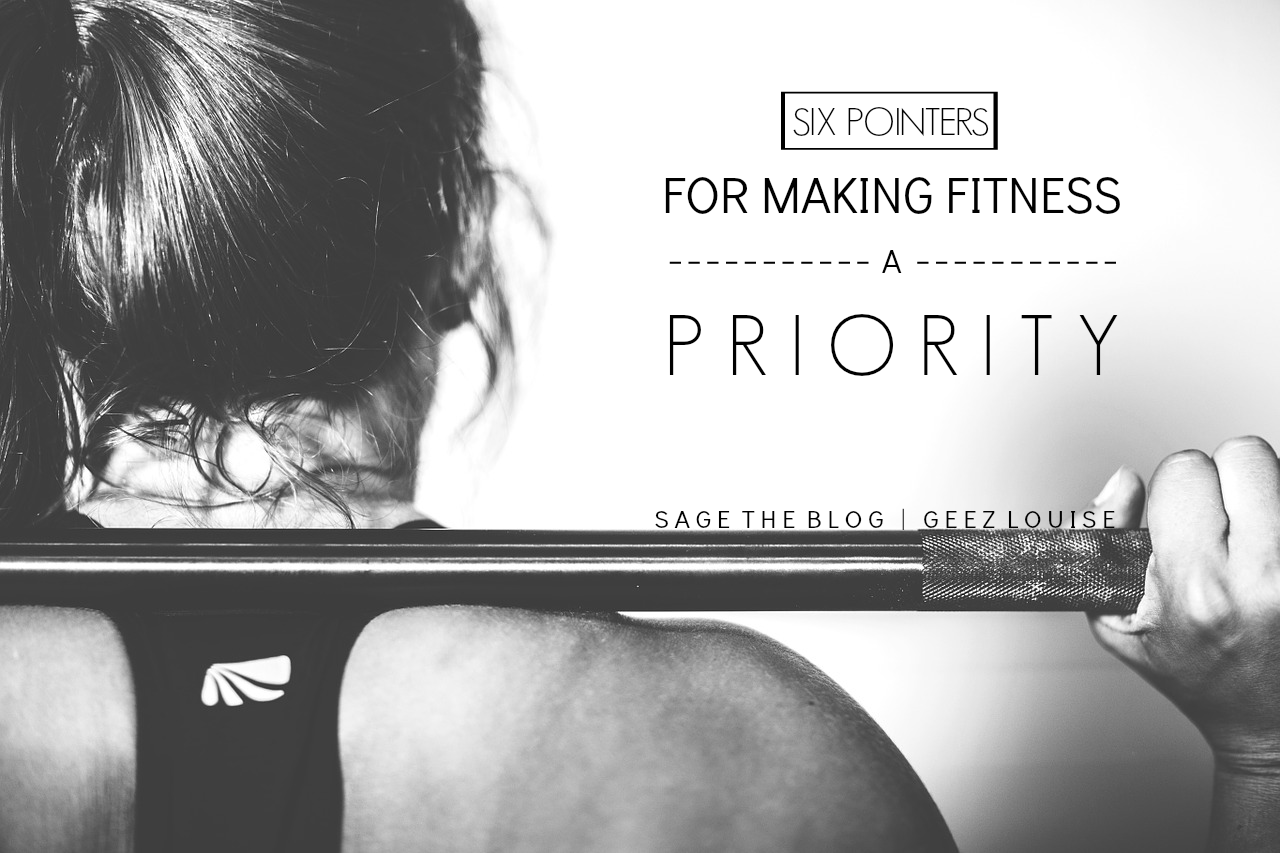 make fitness a priority