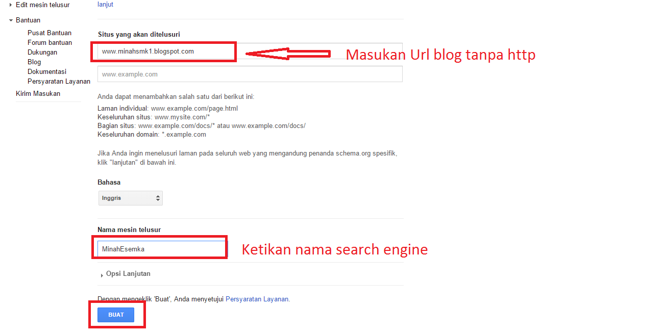 Cara Membuat Google Search Engine Di Blog 2015