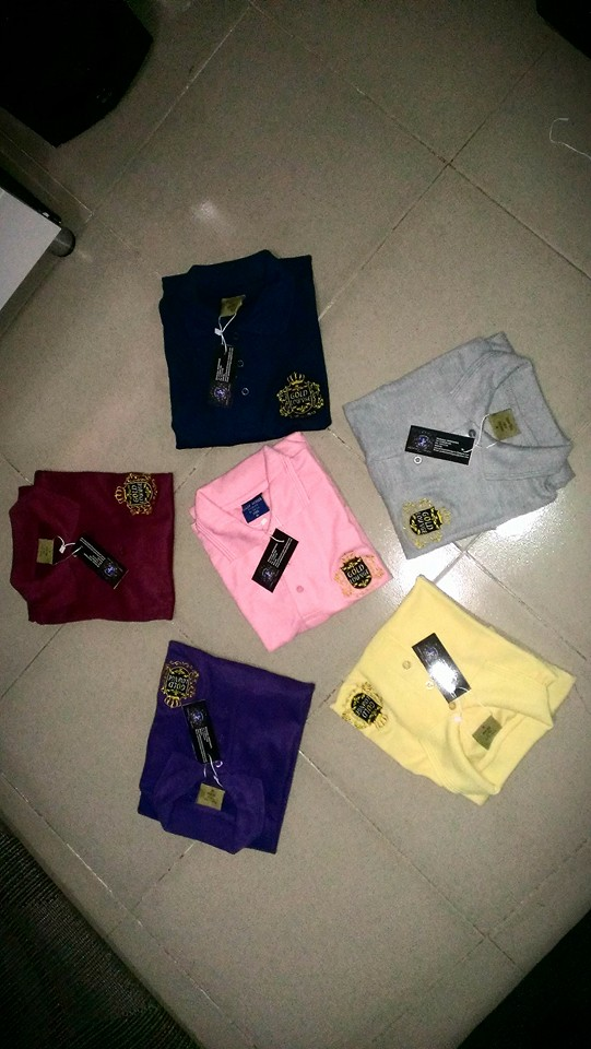 crested polo shirt
