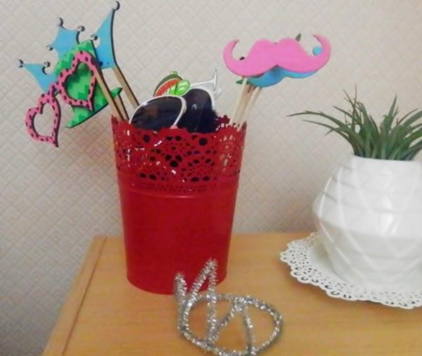 Décoration de fête d'anniversaire : photobooth.