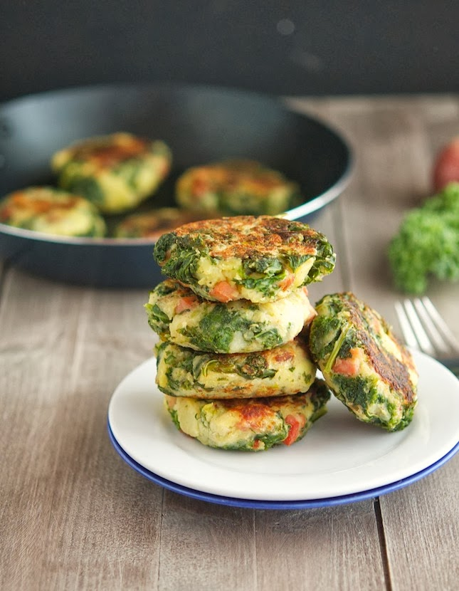 Bacon, Mashed Potato and Kale Cakes Print this recipe! Adapted from ...