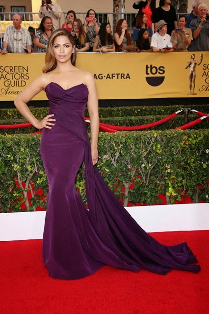 Camilla Alves in Donna Karen Atelier 2015 SAG awards red carpet
