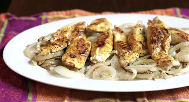 Chicken Tenders w/ Saffron- simplelivingeating.com