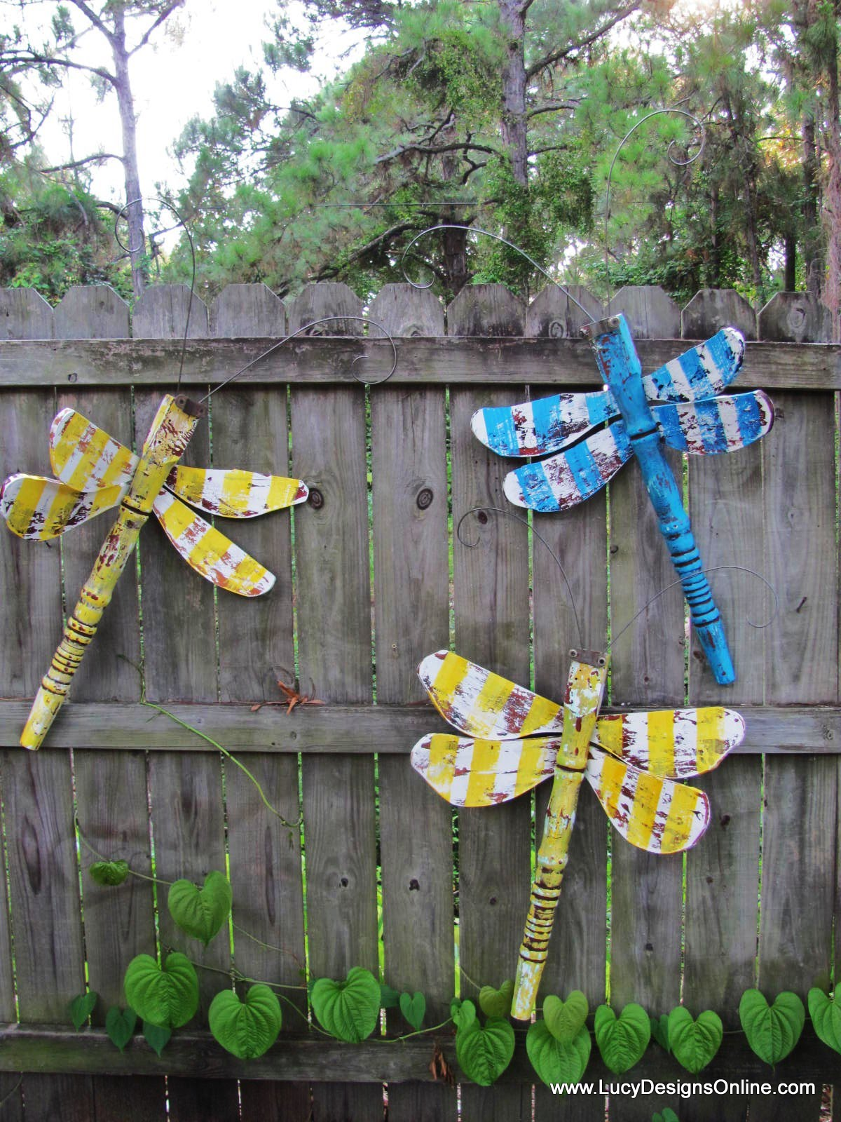 Dragonflies layered paint metal wings and wire wings lucy designs mozeypictures Choice Image
