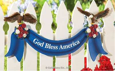 Patriotic Fence Decorations