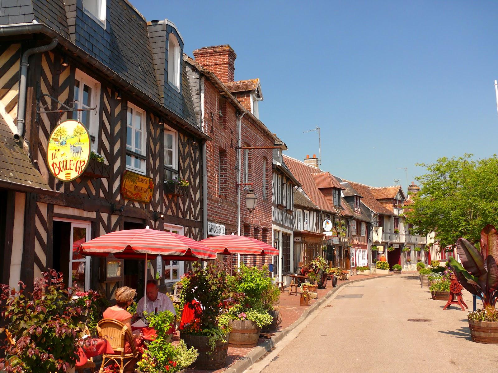 La foire aux geranium beuvron en auge - Les plus beaux villages de normandie ...