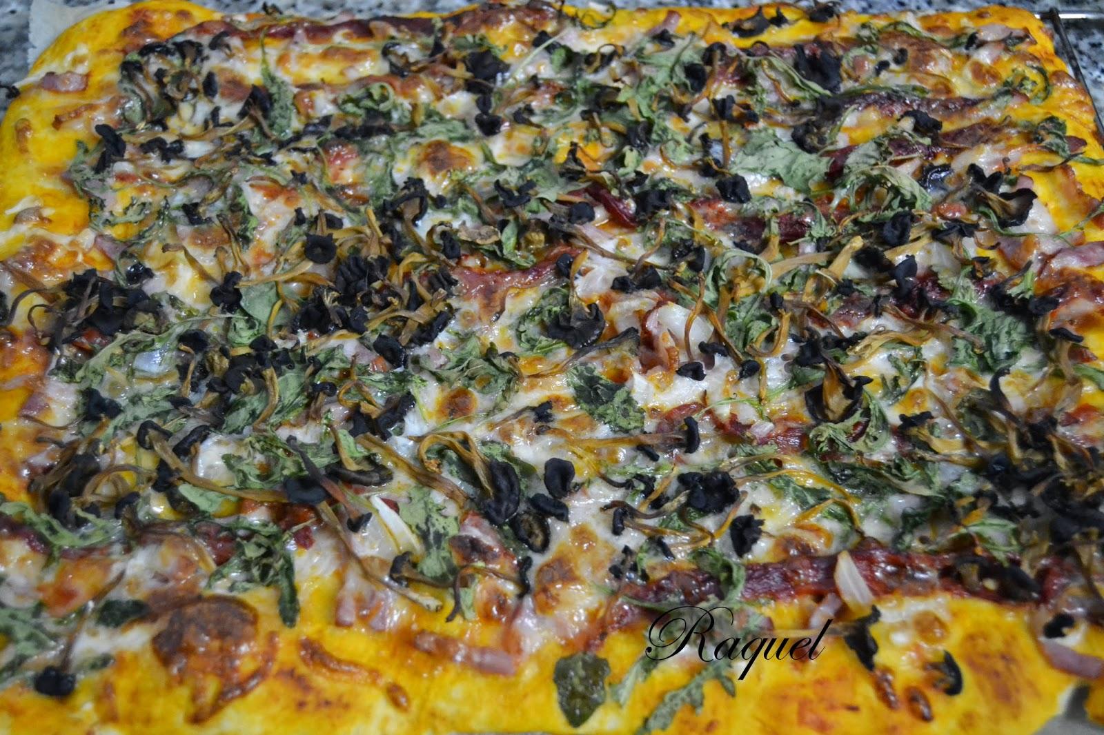 Pizza De Rucula Beicon Y Camagrocs
