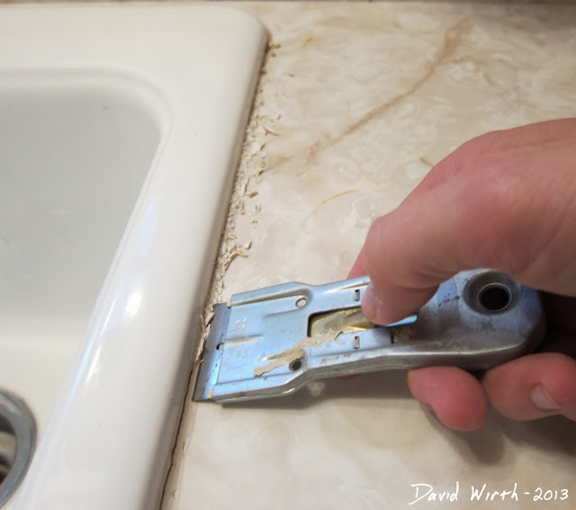 best way to fix a sink, caulk, silicone, how to