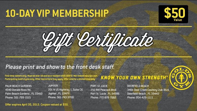 Gym Gift Certificate Kubreforic