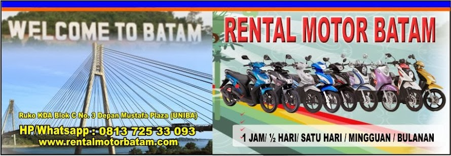 Rental Motor Batam, Whatsapp/Hp 0813 725 33093