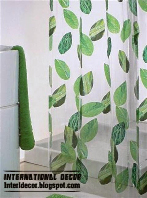 Leaf Print Shower Curtain Tropical Print Shower Curtain