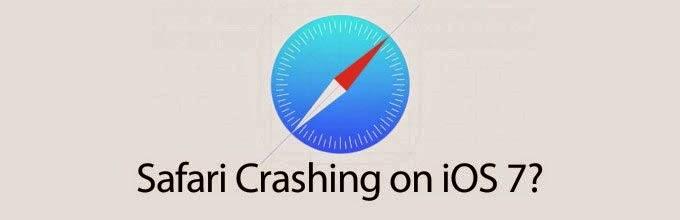 Crash pada Email, Calculator, Weather dan Safari