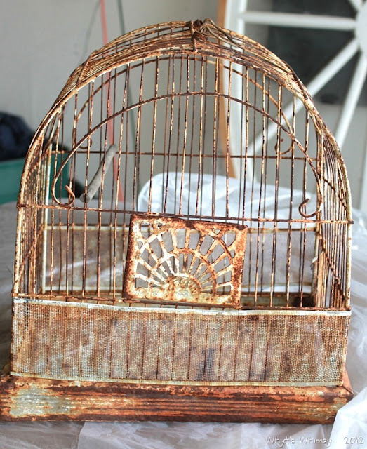 A cool, whimsical bird cage light, by Whyt's Whimsy, featured on I Love That Junk - I NEED ONE!